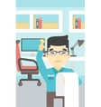 Businessman with long bill vector image vector image