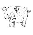 cartoon image of pig vector image vector image