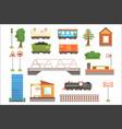 cartoon train railroad vector image