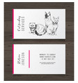 cat feeding services business card vector image vector image