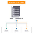 check checklist list task to do business flow vector image