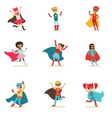 Children Pretending To Have Super Powers Dressed vector image vector image