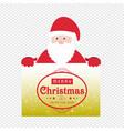 christmas card with santa caluse vector image vector image