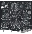 ChristmasNew Year 2016 decorationlabels vector image vector image