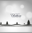 creative christmas background with landscape vector image vector image