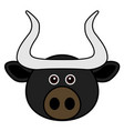 cute bull cute animal faces vector image vector image