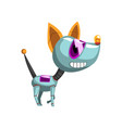 cute robot dog artificial intelligence concept vector image vector image