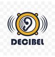 decibel logo isolated on white background vector image