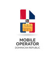 dominican republic mobile operator sim card with vector image vector image