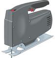 electric saw tool construction icon circular vector image