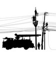 electricity supply maintenance silhouette vector image vector image