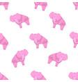 elephant pattern stylized vector image vector image