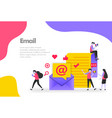 email concept send receive and read vector image