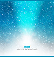 falling snow on the blue background with light vector image vector image
