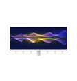 flowing smoke effect from blended lines billboard vector image