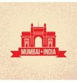 Gateway Of India Mumbai Maharashtra India vector image vector image