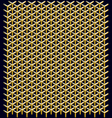 geometric pattern of hexagons vector image vector image