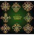 Golden decorative ethnic elements vector image