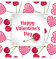 greeting card happy valentines day card vector image vector image