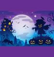 halloween theme image 8 vector image vector image