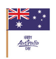 happy australia day poster with australian flag in vector image vector image