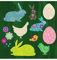 Happy Easter elements vector image vector image