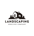 house landscaping service logo icon vector image vector image