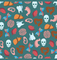 internal human organs seamless pattern vector image