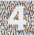 large group people in number 4 four form vector image vector image