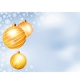 light christmas backdrop with three balls eps 8 vector image