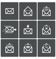 Mail icons Mail delivery symbol Print Spam vector image vector image