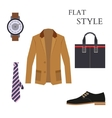 Mens Wear Look Fashion Flat Style vector image