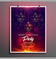 merry christmas party invitation flyer template vector image vector image