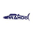 modern fish wahoo logo vector image vector image