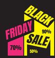 november promo black friday sale logo sign banner vector image