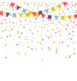 party background with colorful garlands and vector image