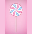 pink lolipop candy on pastel pink background vector image