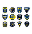 police badge security department shield symbols vector image