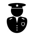 police officer icon black and white pictograph vector image