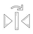 redo reflect vertical line icon vector image vector image