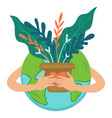save planet from pollution collapse nature care vector image