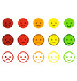 set of satisfaction scales with colorful smileys vector image vector image