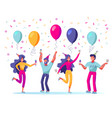 set people celebrating holiday event man and vector image vector image