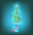 small fir as a gift vector image vector image