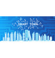 smart town technology control system icon vector image vector image