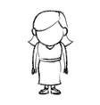 standing woman female adult person character vector image vector image