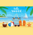summer accessories for beach vector image