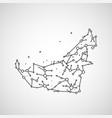 technology image of united arab emirates vector image vector image