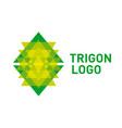 triangle logo icon vector image vector image