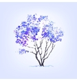 Winter tree of blots background vector image vector image